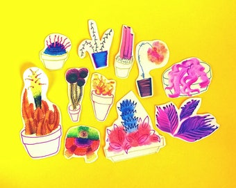 Pack of 11 Plants Stickers