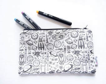 Color-It-In Pencil Case (Space)