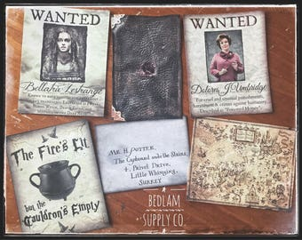Hogwarts Inspired Sticker Label Assortment