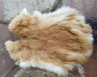 Red Rabbit Fur Pelt - Craft Grade