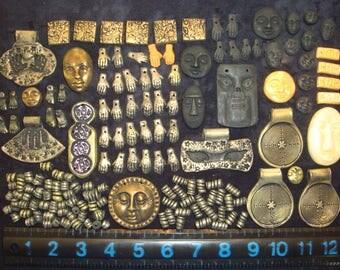 Destash Lot of over 150 Handmade Polymer Clay Beads and Pendants