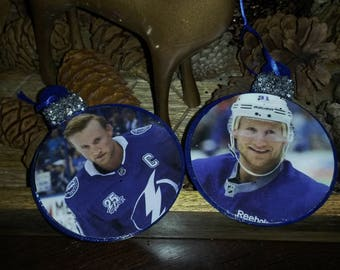 TAMPA BAY LIGHTNING Christmas Ornament AUTOGRAPHEd by STEVEn STAMKOs
