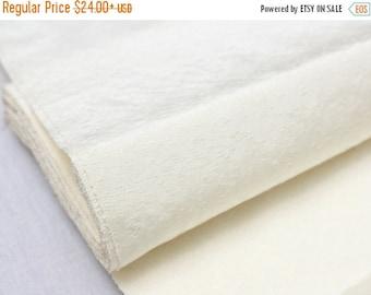 SALE Vintage Japanese Undyed Silk. Artisan Natural Fabric. Tsumugi / Pongee (Ref: 1613)