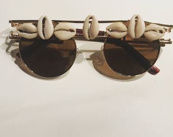 Highs & Lows- Cazal cowrie shell sunglasses