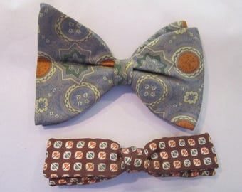 vintage bow ties two bow ties clip on mens ties