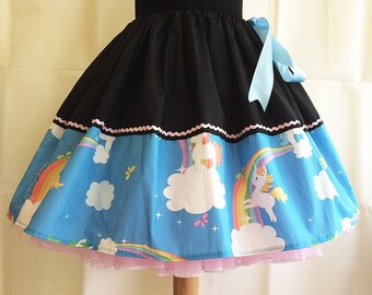 Unicorn Skirt By Rooby lane, FREE SIZE