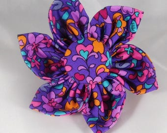 Dog Flower, Dog Bow Tie, Cat Flower, Cat Bow Tie - Garden Violet