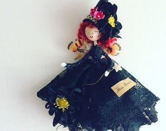 H A L L O W E E N  W I T C H Beautifully handmade with treasured scraps of vintage and antique fine haberdashery and lace
