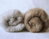 100% Farm Wool-Natural Grey- Shetland Sheep-Spinning-Batt-Felting-Fiber