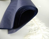 72 Navy Tissue Paper Sheets   Solid Color Sheets   Gift Wrap Tissue   Luxury Packaging   Craft Tissue   Soft Collection   Navy Wedding Decor