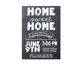 Chalkboard Housewarming Party Invitation