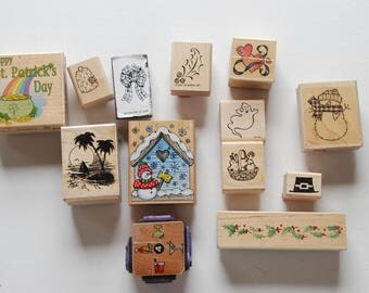 Stamp0190 Fun Holiday Rubber Stamps To Add To Your Collection