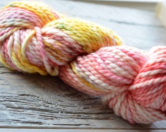 Hand-Dyed Superwash Merino and Nylon 2-ply Super Bulky Weight Yarn - Rhododendron