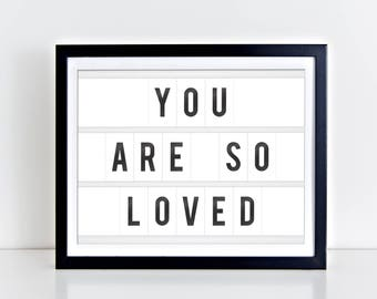 You Are So Loved Digital Print | 8 x 10 | You Are So Loved Nursery Print | Instant Download