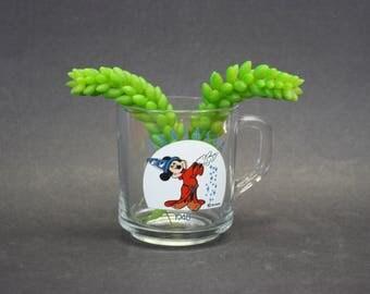 Vintage Glass Fantasia Wizard Mickey Mouse Disney Mug (E9247)