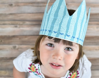 Organic Birthday Crown, Kids Birthday Hat, Kids Birthday Crown, Custom Birthday Crown, Birthday Crown Boy, Turquoise Crown, Baby Crown,