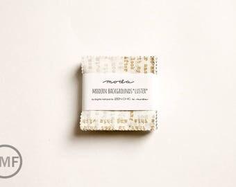 Modern Background Luster Candy Pack, Mini Charm Pack, Brigitte Heitland, Zen Chic, Moda Fabrics, 1610MCM