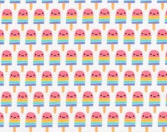 Suzy's Minis 2 Popsicles in Sweet, Suzy Ultman, Robert Kaufman Fabrics, 100% Cotton Fabric, ASD-17212-287 SWEET