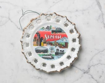 Collectible City of Seattle Decorative Plate