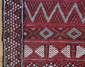 Fine, Vintage 1950s, Hand Woven TURKISH KILIM, Konya, From  Estate of World Travelers, 3 by 6 Feet