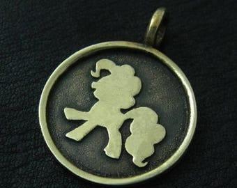 Bronze Pinkie Pie pendant