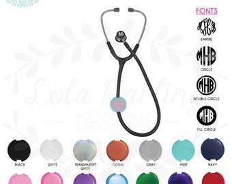 Monogram Stethoscope Clip / Nurse stethoscope clip