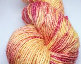 Merino Hemp hand dyed yarn hand painted yarn: