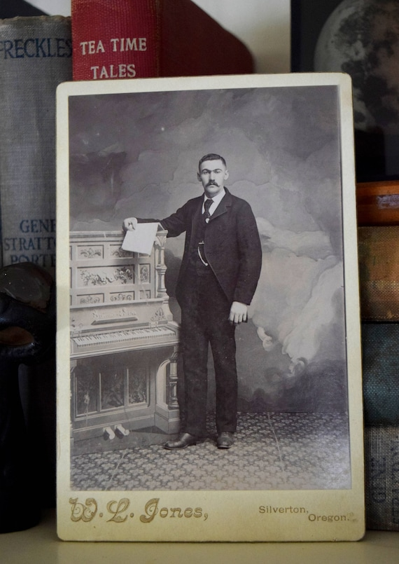 Antique photograph of distinguished gentleman - Victorian, Steampunk, Eclectic