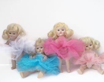 Ginny Muffie Doll Ballet Costume Tutu  Blue Lavender Hot Pink Light Pink