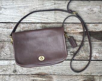 COACH Legacy Penny Pocket 9755 Dark Brown Shoulder Bag Purse