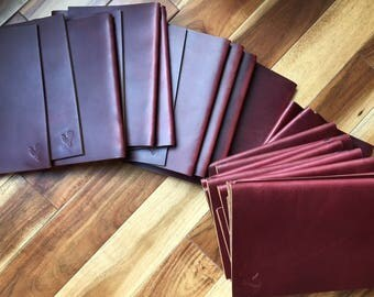 Leather Menu Cover for 8.5x11 paper [25 Covers]