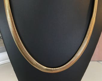 Vintage Classic 24 inch Long Snake Chain Necklace