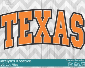 Texas Arched SVG Files