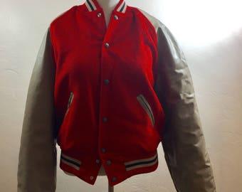 Vintage Lettermans Jacket, Vintage Jacket, Blank Jacket, Vintage Clothing, Large Vintage Jacket, 50s Clothing, 1950s Clothing, Lettermans