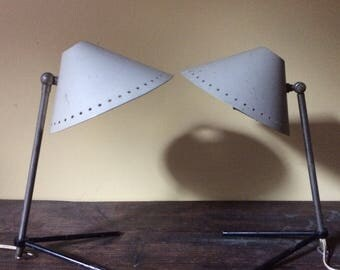 1950s Pair of Pinocchio lamps designed by Busquet for Hala Zeist