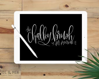 Chalky Brush Hand Lettering Digital Download for the Procreate App
