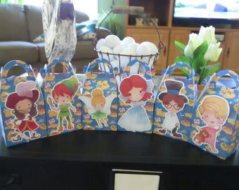 Peter Pan and Friends Inspired Gable Favor Boxes Set of 12