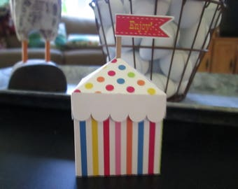 Mini Rainbow Circus Tent Favor Boxes Set of 12