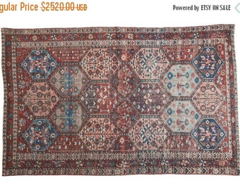10% OFF RUGS DISCOUNTED 4.5x7 Distressed Antique Bakitary Rug