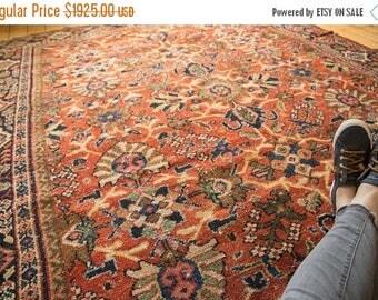 10% OFF RUGS 7.5x10 Vintage Mahalati Carpet