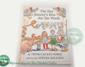 The Day Jimmy's Boa Ate the Wash Vintage 1980s Kids Book