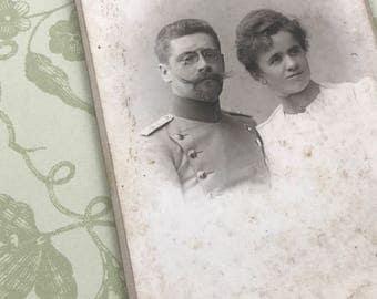 European Carte de Visite of a Moustache with a Man Attached CdV Cabinet Card 9016