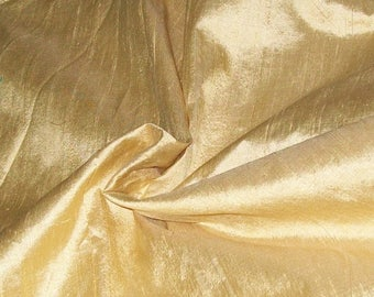 15% off on Wholesale fabric 10 yards of 100 Percent pure dupioni silk in beige gold