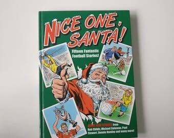 Nice one Santa Christmas Notebook - Handmade Journal football