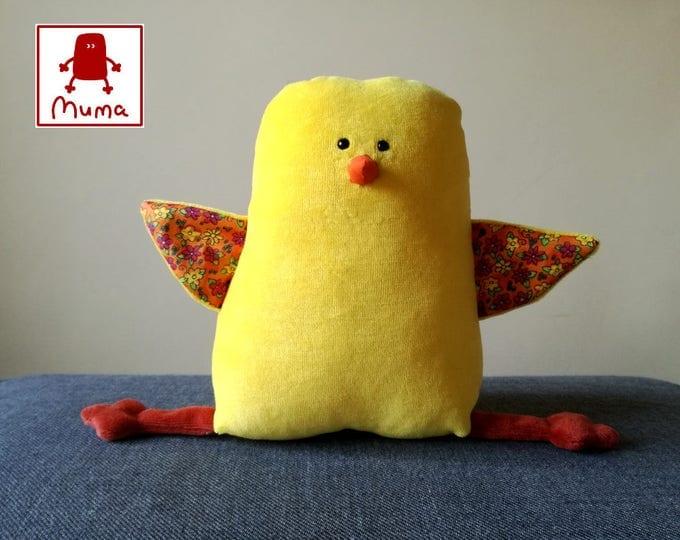 Muma Chicken Plushie, Little Chickling Stuffie Toy, Funny Pocket Plush