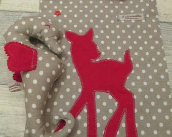 blanket and matching seahorse with Bambi bag!