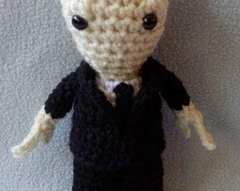 "Amigurumi Hand crocheted Dr. Who like doll The Silence Creature 7"" Doll"