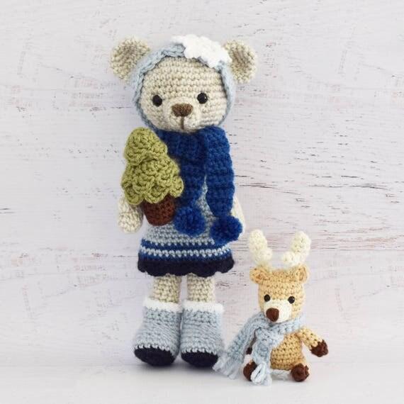 Crochet Reindeer And Bear Pattern
