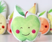 Apple Baby Rattle Apple Rattle Kawaii Apple Rattle Fruit Plush Tropical Rattle