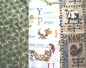 Choice fabric. Dr. Seuss, vintage country, ladybugs on clover. Approx. half yard each. Cotton quilt fabric. Craft fabric